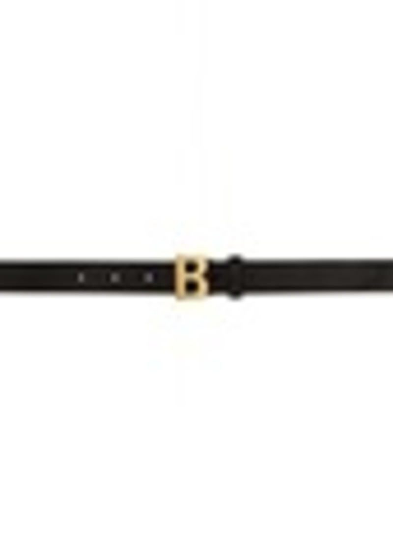 Balenciaga Black B Thin Belt