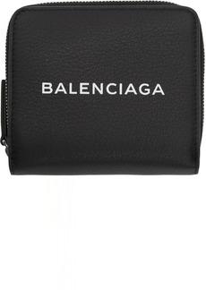 Balenciaga Black Baltimore Logo Billfold Wallet