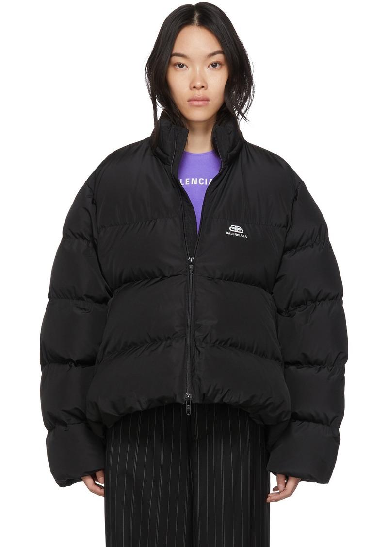 Balenciaga Black BB C-Shape Puffer Coat