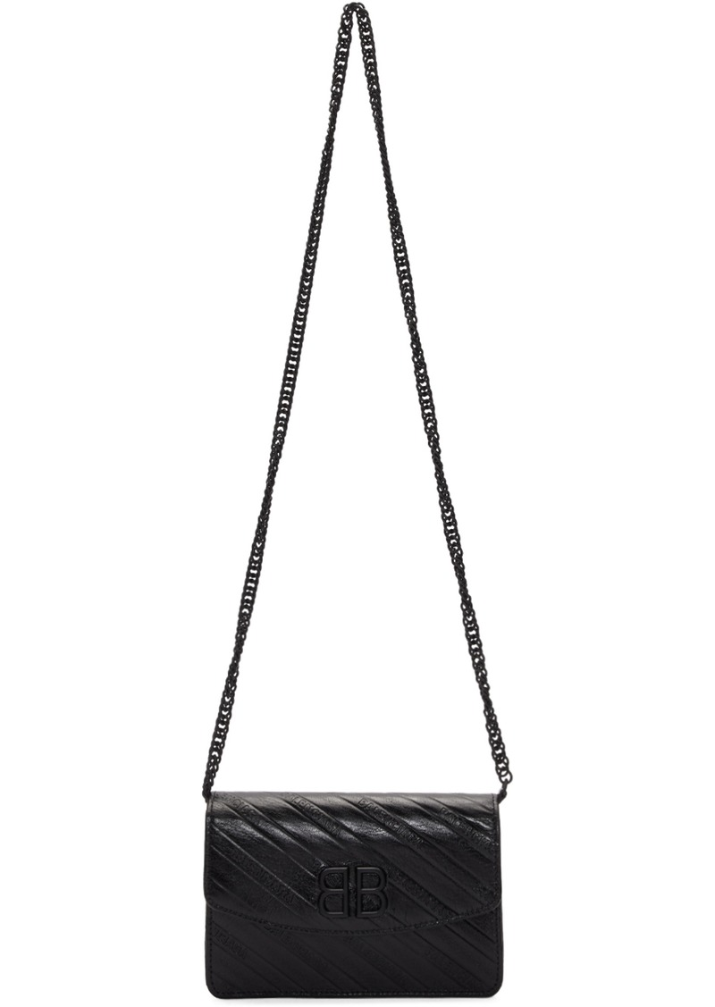Balenciaga Black BB Wallet Chain Bag