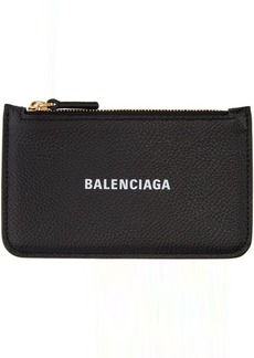 Balenciaga Black Cash Long Card Holder