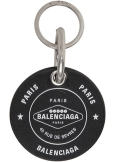 Balenciaga Black Casino Round Keychain
