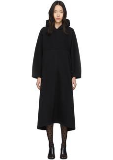 Balenciaga Black Cocoon Hooded Sweatshirt Dress