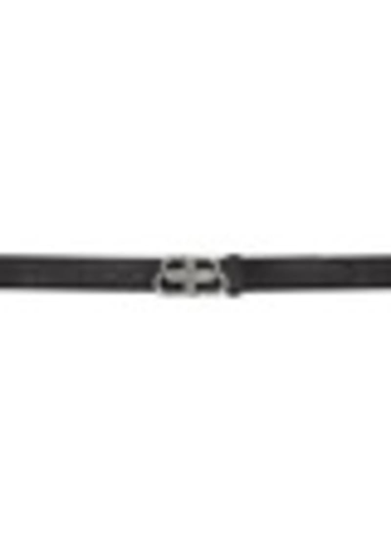 Balenciaga Black Croc BB Belt