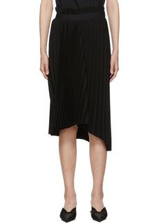 Balenciaga Black Fancy Pleat Skirt