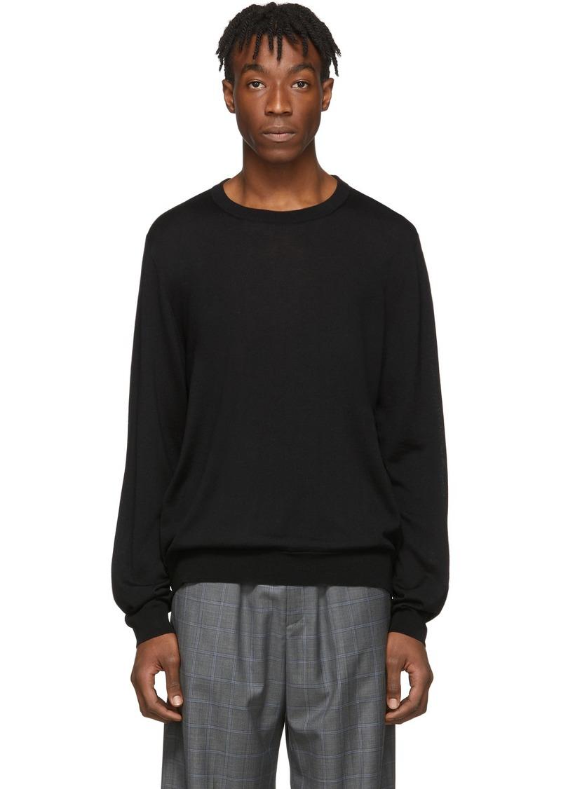 Balenciaga Black Fine Wool BB Sweater