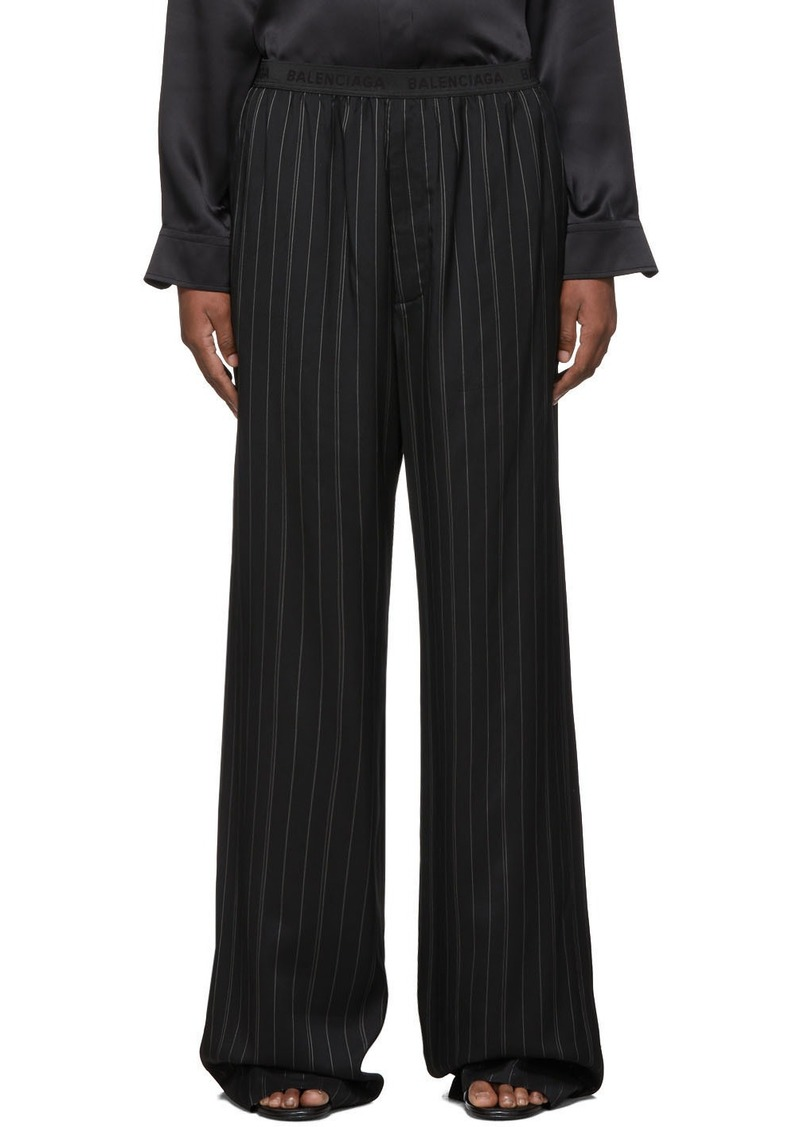 Balenciaga Black Fluid Tailored Trousers