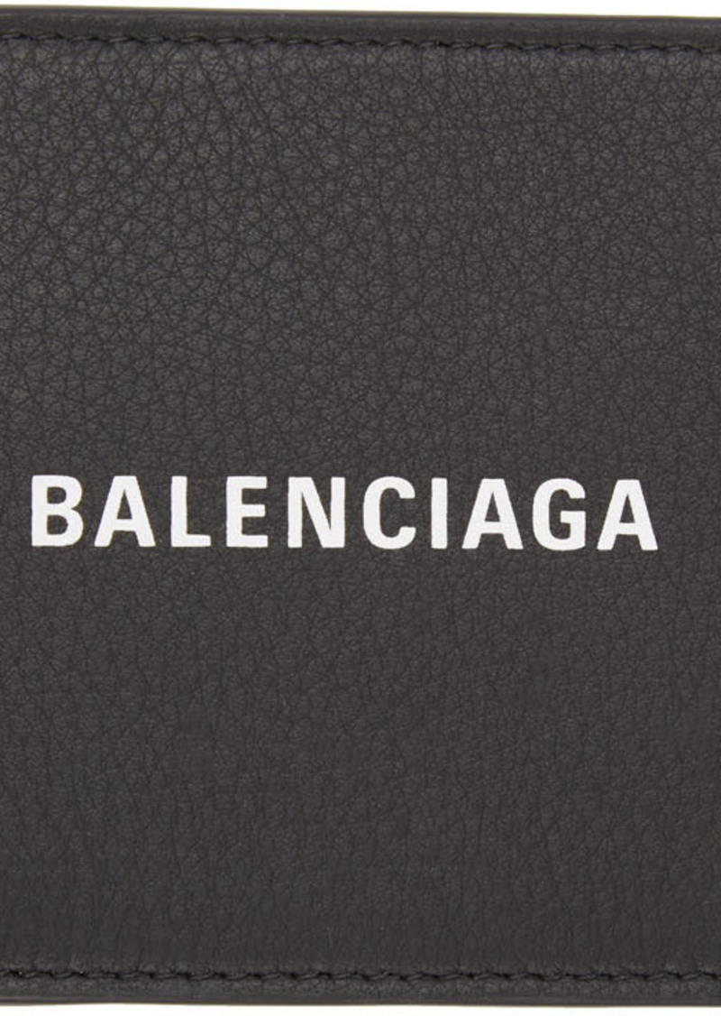 Balenciaga Black Grained Everyday Wallet
