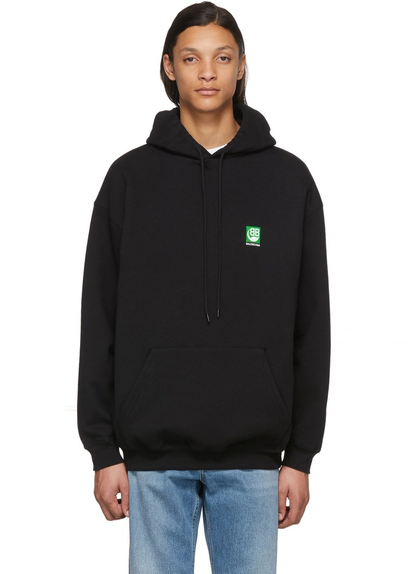 Balenciaga Black Green Logo Hoodie