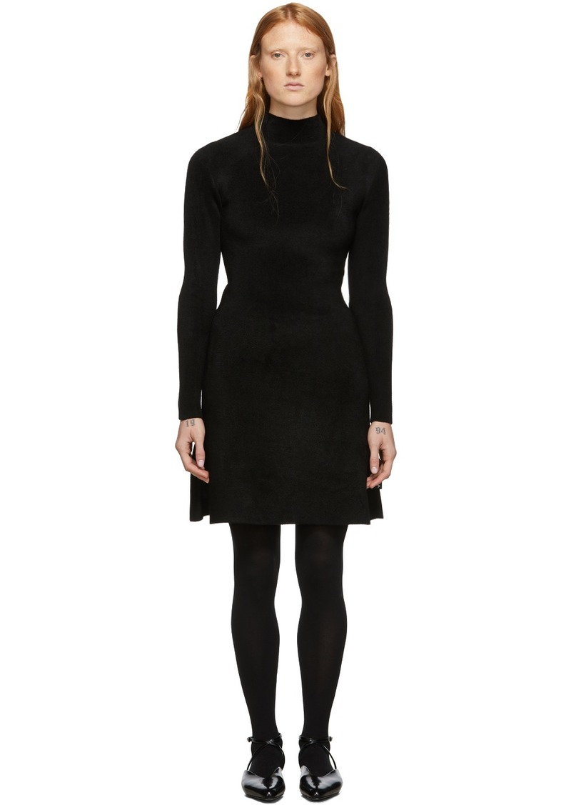 Balenciaga Black Knit A-Line Dress