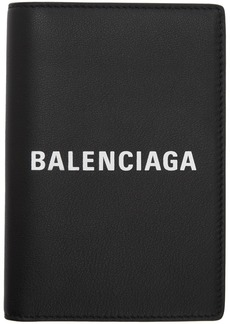 Balenciaga Black Logo Everyday Passport Holder