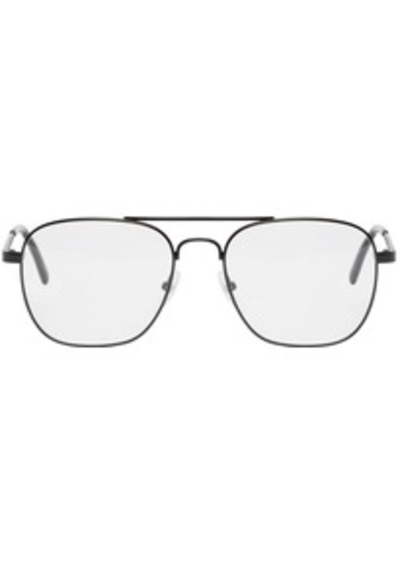 Balenciaga Black Metal Pilot Glasses