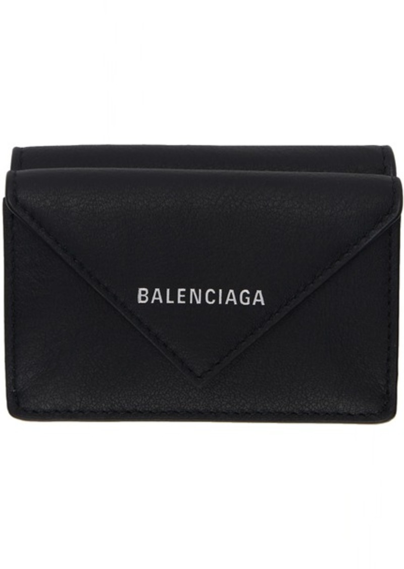 Balenciaga Black Mini Papier Wallet