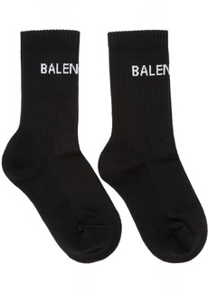 Balenciaga Black New Logo Tennis Socks