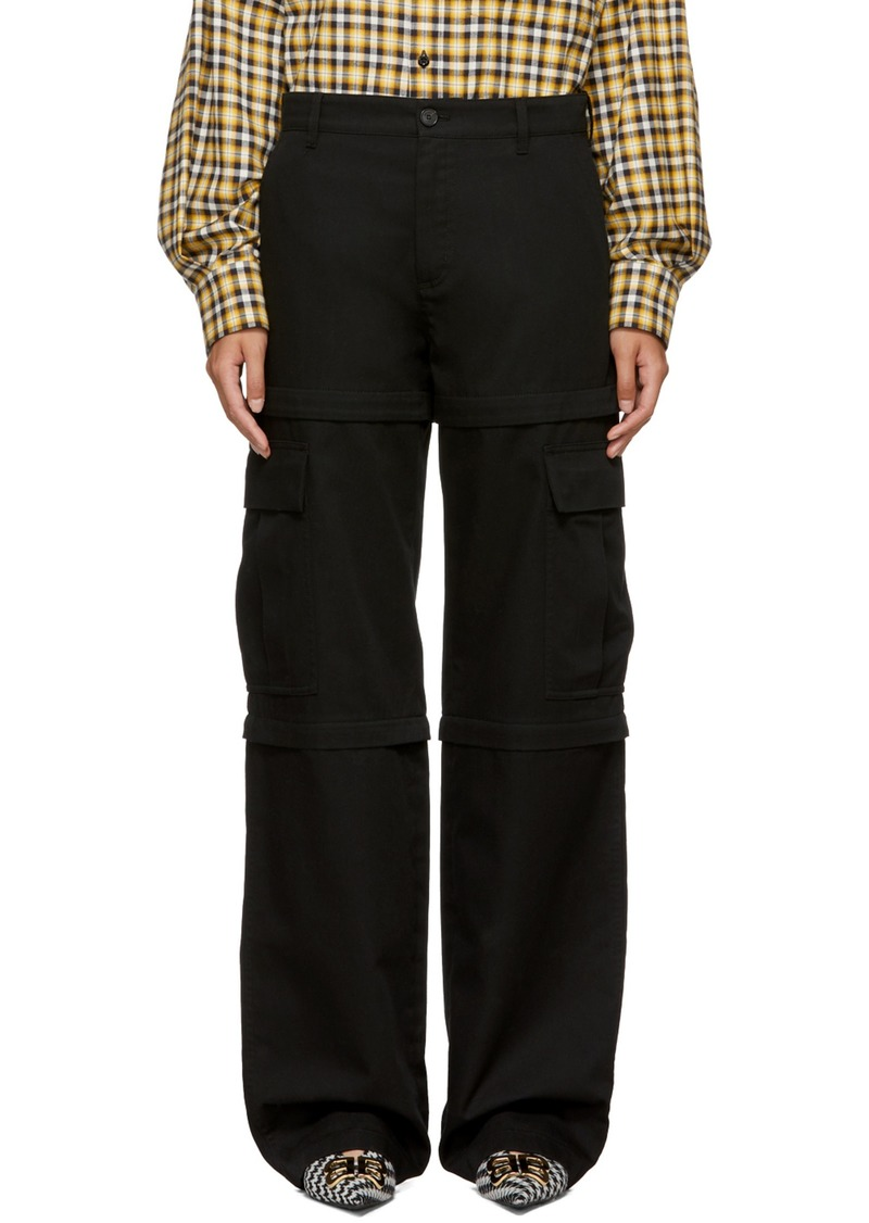 58be2619ba23 Balenciaga Black New Zip Cargo Pants
