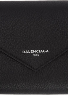 Balenciaga Black Papier Zip Around Wallet