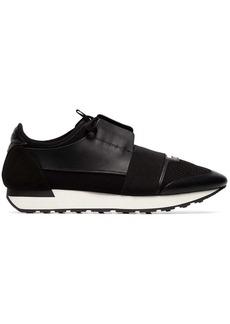 Balenciaga black Race Runner leather sneakers