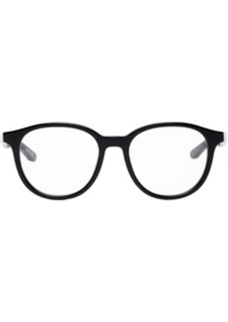 Balenciaga Black Shiny Round Glasses