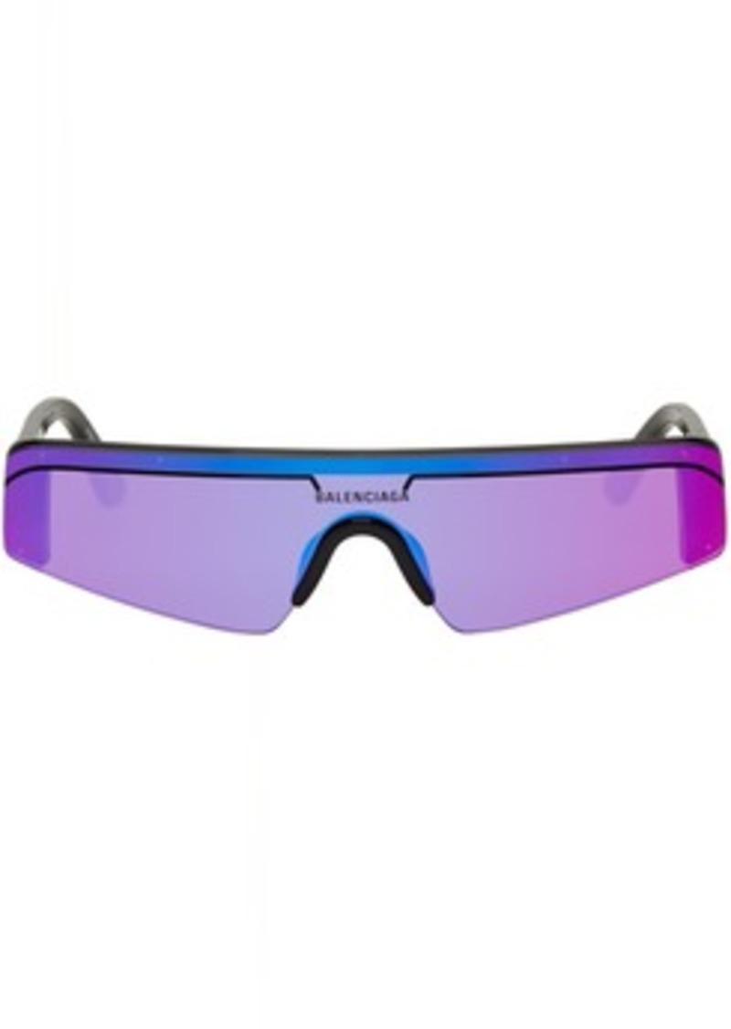 Black Skinny Rectangular Ski Sunglasses