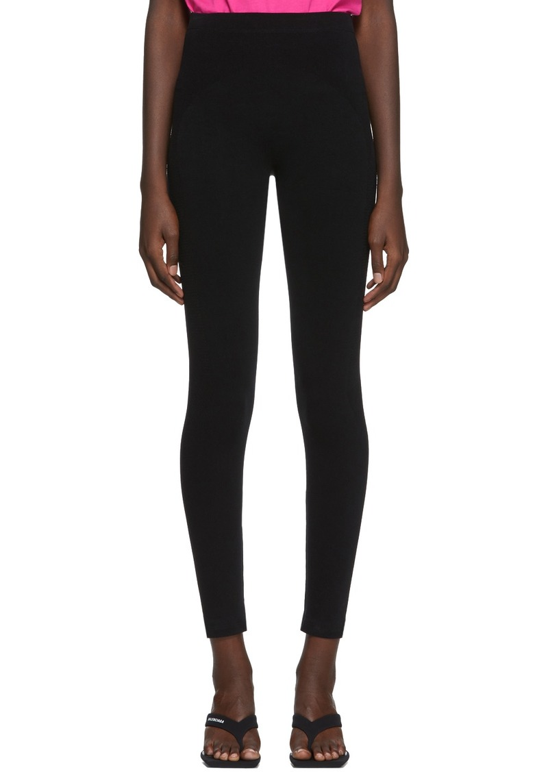 Balenciaga Black Sporty Leggings