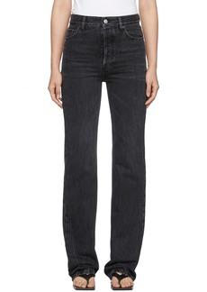 Balenciaga Black Streaky Japanese Denim Jeans