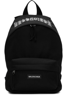 Balenciaga Black Tattoo Ville Explorer Backpack