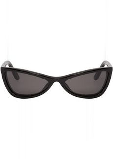 Balenciaga Black Thin Cat-Eye Sunglasses