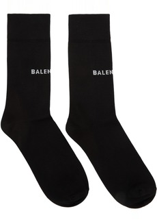 Balenciaga Black Tight Logo Socks