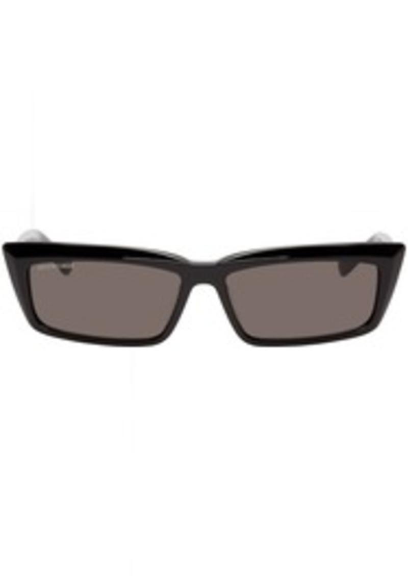 Balenciaga Black Tip Rectangular Sunglasses