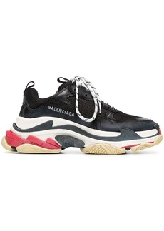 Balenciaga black triple s leather sneakers