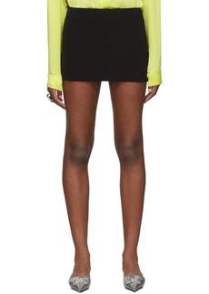 Balenciaga Black Twill Miniskirt