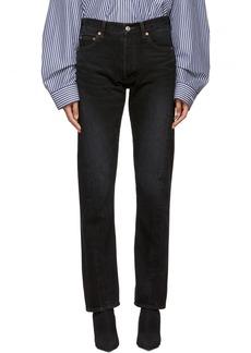 Balenciaga Black Twisted Leg Jeans
