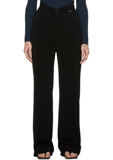 Balenciaga Black V-Neck Trousers