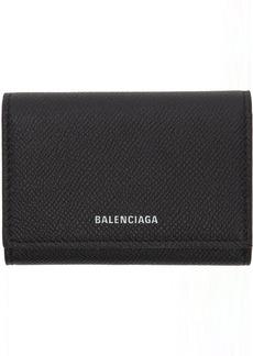 Balenciaga Black Ville Accordion Card Holder