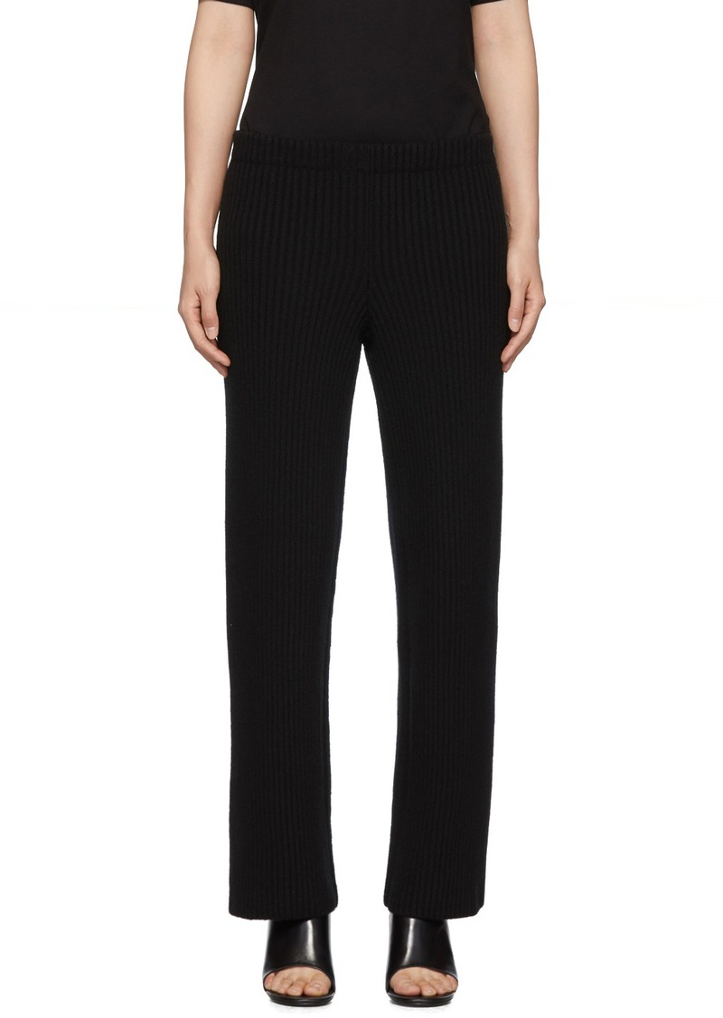 Balenciaga Black Wool & Cashmere Lounge Pants