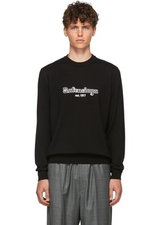 Balenciaga Black Wool 'Est. 1917' Sweater