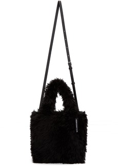 Balenciaga Black XXS Faux-Fur Everyday Tote