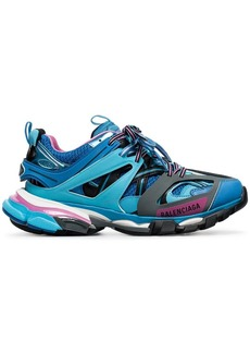 Balenciaga blue and pink Track caged multi-texture sneakers