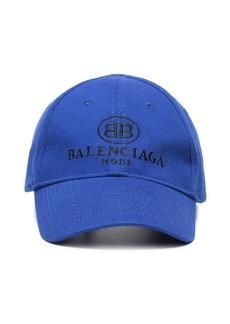 Balenciaga Blue logo embroidered cap