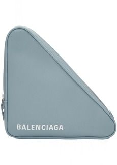 Balenciaga Blue Medium Triangle Pouch