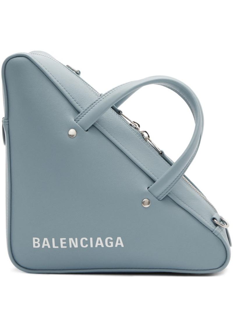 Balenciaga Blue Small Triangle Bag
