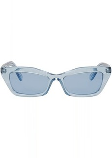 Balenciaga Blue Thin Cat Eye Sunglasses