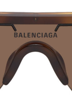 Balenciaga Brown Mask Sunglasses