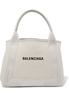 Balenciaga Cabas Small Leather-trimmed Canvas Tote