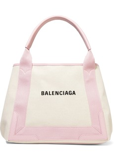 Balenciaga Cabas Small Leather-trimmed Printed Canvas Tote