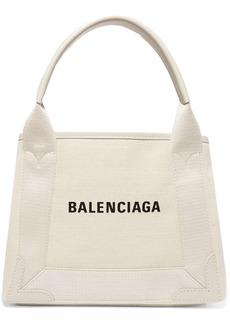 Balenciaga Cabas Xs Aj Leather-trimmed Printed Canvas Tote