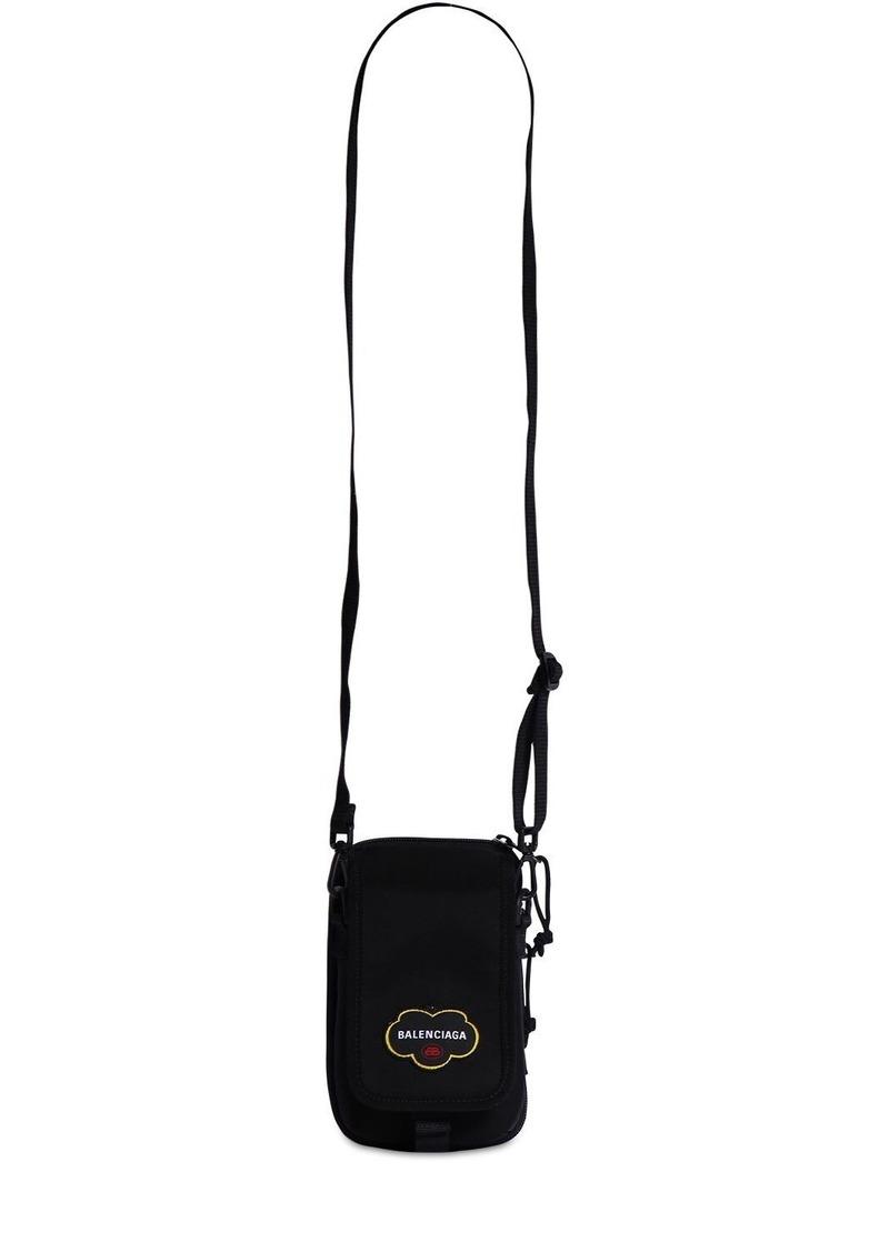 Balenciaga Camera Smartphone Nylon Crossbody Bag