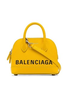Balenciaga canary yellow Ville XXS leather cross body bag