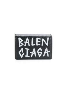 Balenciaga carry mini wallet graffiti
