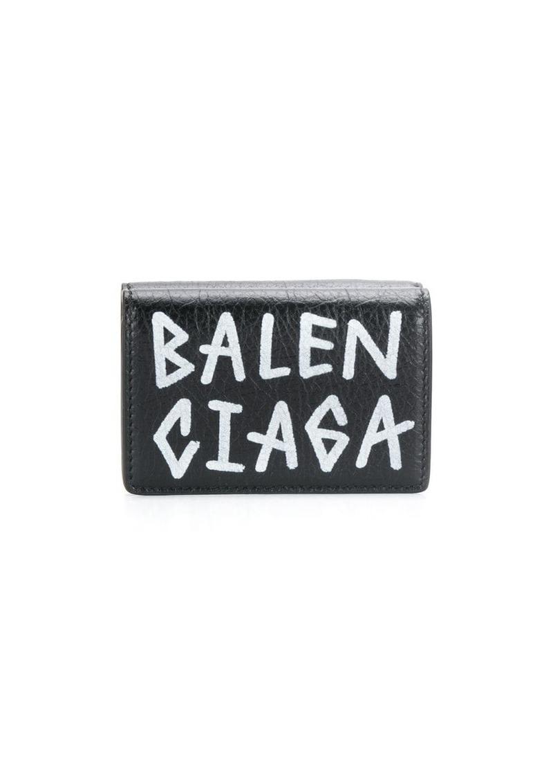 Balenciaga carry mini wallet graffiti